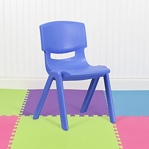 Flash Furniture 5 Pack Blue Plastic Stackable School Chair with 15.5'' Seat Height