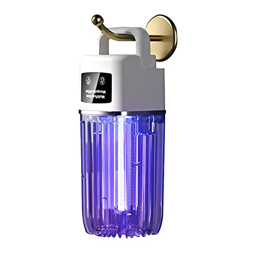 Lámpara Antimosquitos Eléctrico, 4.5W 360° Mosquito Lámpara Trampa USB Lámpara Mata Insectos Matamoscas con Luz UV LED Matar Mosquitos para Exterior Y Interior, Montado En La Pared