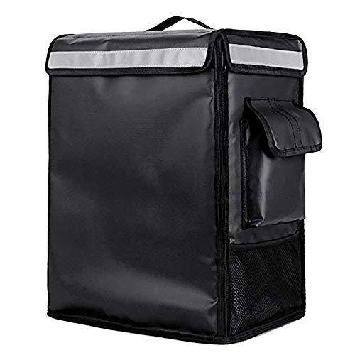 YuuHeeER 1 bolsa enfriadora de picnic con aislamiento térmico portátil para pizza, 42 l, color negro