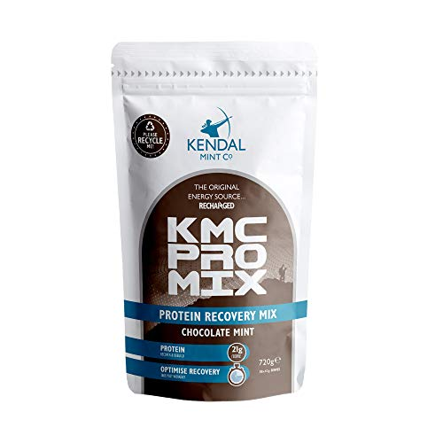 KMC PRO Mix: Fast Effective Whey Protein Recovery Powder | 21g Protein/Serve | 100% Recyclable Bag (Delicious Chocolate Mint, 720g / 18 Serves)