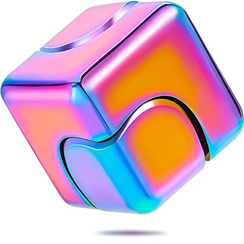 Zhanmai Fidget Cube Spinner Anti-Anxiety Focusing Fidget Toys 4-in-1 Spinning Toy Metallic Focus Toy...