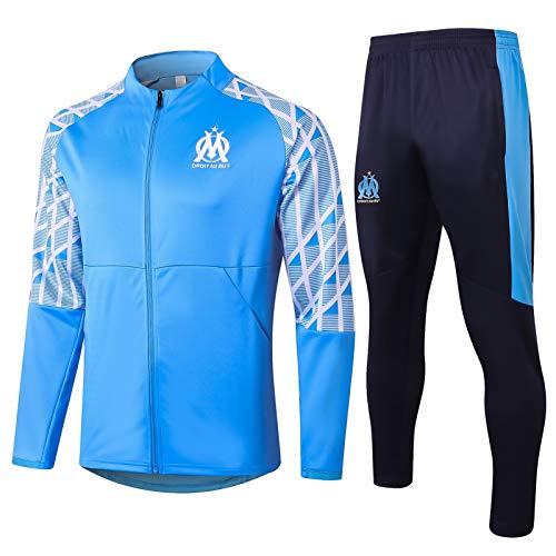 Qinmo 2020-2021Marsille Football Jersey de Manga Larga Club-de Manga Larga para Pantalones de Camiseta Deportiva, Traje de Entrenamiento de Ropa Deportiva (Size : L)