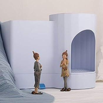 ZCY Bac À Litière pour Chat Déodorant Bassin De Lit pour Chat Étanche Aux Éclaboussures Toilettes pour Chats avec Tiroir Bassin De Sable, Fournitures pour Animaux (Color : Blue)