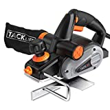 Planer, TACKLIFE Electric Hand Planer, 6-Amp 3-1/4-Inch, 16500RPM, with 5/64 inch Adjustable Cut Depth, Dual...