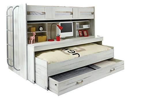 Kinderbett, matt, Holz, weiß, antik, für Kinderzimmer
