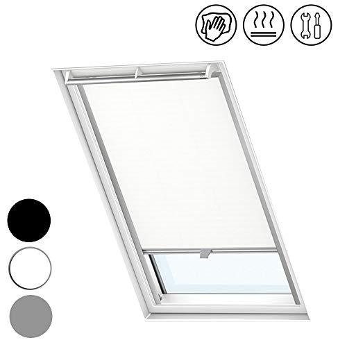 Froadp M06/306 Verdunkelungs Rollos Sonnenschutz Thermorollos Hitzeschutz Velux Jalousien für Dachfenster Fensterdekoration Springrollos(61,3×94cm)
