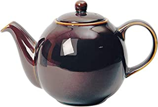 London Pottery Globe Ceramic Teapot with Strainer, Oyster Rockingham, 4 Cup (1 Litre)