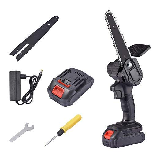 Rubyu-123 Mini sierra de cadena eléctrica de 15,2 cm, sierra de cadena...