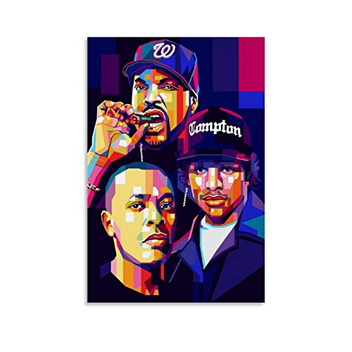 SHEFEI Ice Cube Dr Dre Eazy E NWA Canvas Art Poster and Wall Art Picture Print Modern Family Bedroom Decor Posters 20x30inch(50x75cm)