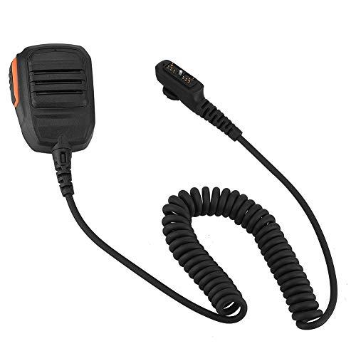 Speaker Mic für Hytera, Empfindlichkeit bis zu 94 ± 3 dB, Walkie Talkie-Lautsprecher mit 360° -Rückenclip für PD700, PD700G, PD708, PD702G, PD780, PD780G, PD788, PD782, PD705, PD705G, PD785, PD785G