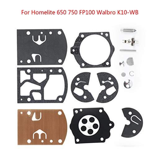 Itlovely Kit de reparación de carburador para Homelite 650 750 FP100 Walbro K10-WB Herramientas de jardín de repuesto para Poulan/Weedeater