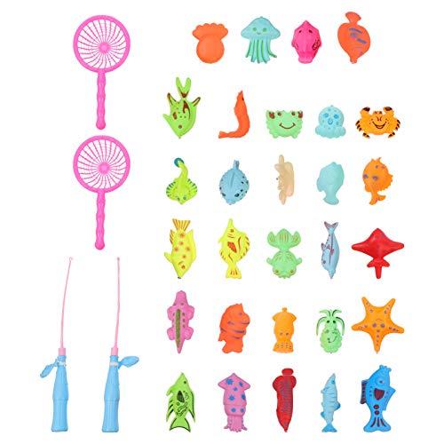 CLISPEED Juego de Pesca Magnética Juego de Juguetes de Pesca Magnética para Niños Juego de Juguetes de Piscina de Pesca Juego de Niños Juego de Pesca Juguete de Bañera con Caña de Pescar