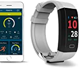 FOMO Fit Fitness Smartwatch - Touchscreen with GPS and App - Smart Watch Activity Tracker for Sleep Blood Pressure and HR - Stay Healthy with Our Health Monitoring Band - White
