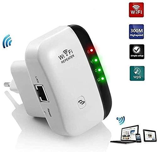 HELIn Extensor WiFi - LV-WR03 Repetidor WiFi Extensores WiFi Amplificador de señal para el Punto de Acceso en el hogar Fácil instalación Diseño de Enchufe de Pared hasta 300Mbps para el hogar