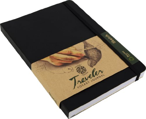 Pentalic Traveler Pocket Journal Sketch, 8' x 6', Black