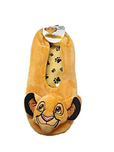 Licensed-Primark Disney The Lion King Footlets Damen Pantoffel Socken Größe 3-5/6-8 Weich und Gemütlich - Gelb, (3-5)