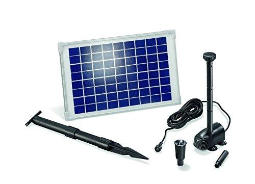 Esotec - Modulo con pompa solare per laghetto, flusso di 610 l/h, 1,5 m di altezza, set completo da 10 Watt