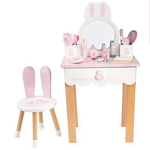 JYBD Schminktisch Kinder,Kosmetiktisch Spielzeug für Kinder,Kosmetikset Prinzessin Mädchen