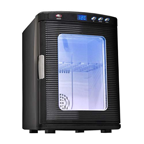 Mini Frigo Portatile 25 Litri, Portatile Ac Dc Con Funzione Di Raffreddamento E Riscaldamento Controllo Della Temperatura 2 In 1 Per Casa, Ufficio E Auto Bevande-nero