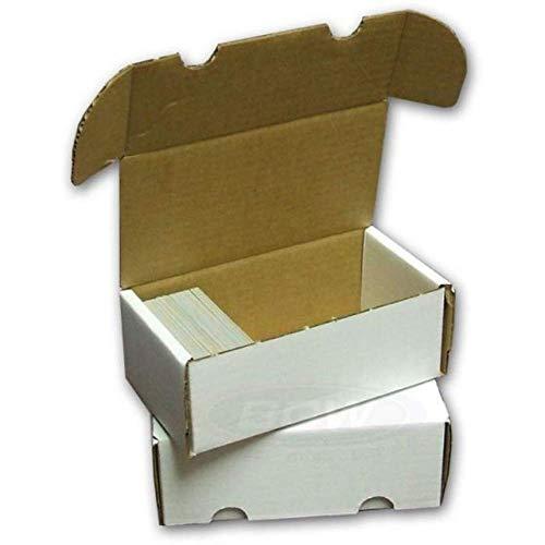 BCW 400 Count (Bundle of 50) Corrugated Cardboard Storage Box - Baseball, Football, Basketball, Hockey, Nascar, Sportscards, Gaming & Trading Cards Collecting Supplies