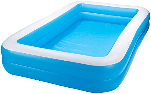 Speeron Pool: Aufblasbares Jumbo-Planschbecken, 305 x 183 x 51 cm, blau-weiß (Schwimmbecken)