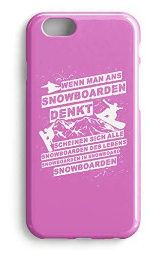 shirt-o-magic Handyhülle Snowboarder: An Snowboarden denken - Case -iPhone 6-Pink