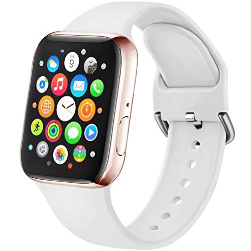Amzpas Cinturino Compatibile per Apple Watch 38mm 40mm 42mm 44mm, Nuovo Cinturino in Silicone di Sportivo Morbido per iWatch Series 6,5,4,3,2,1,SE