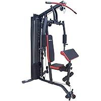 SportPlus Homegym SP-HG-016 Multiestación de Musculación para Entrenamiento Funcional en Casa, con Pesas para Todo el Cuerpo y Poleas Silenciosas-Seguridad Comprobada, 137x115x213cm