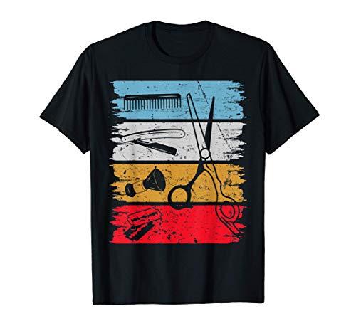 Peluquero Vintage Peluquería Retro Regalo Camiseta