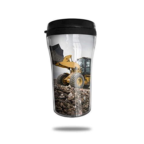 Taza de café de viaje con impresión 3D de vacío portátil, taza de té aislada, taza de agua, taza de viaje para hombres, mujeres y niños, patrón de excavadora