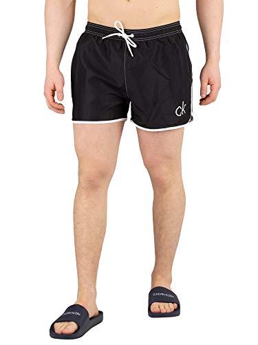 Calvin Klein CK Retro korte runner zwembroek diep Ultramarine