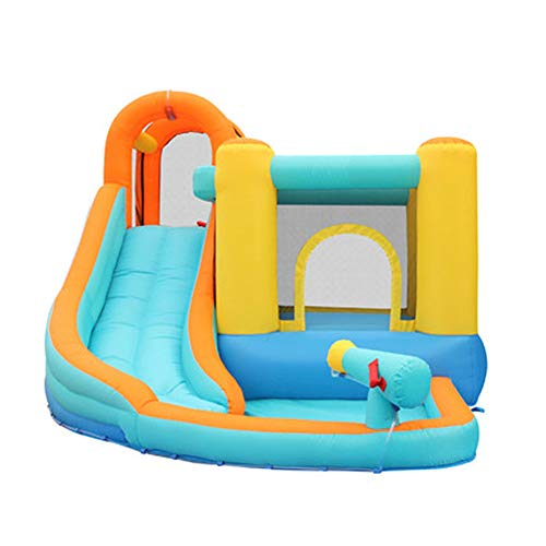 KangHan Castle Bed Home Bouncing Indoor Water Inflatable Small High-Rise Children's Slide Large Trampoline 320 * 280 * 210Cm,320 * 280 * 210cm