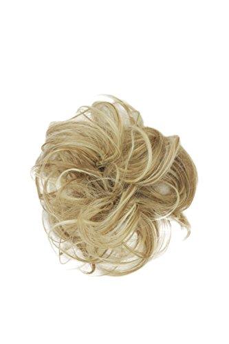 WIG ME UP ® - YZF-3054HT-24H88 Haarteil: Kunsthaar Haar Scrunchie Scrunchy Haarband Haargummi Pferdeschwanz Blond-Mix
