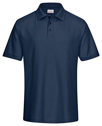 CaptainWorkwear Poloshirt Piqué Unisex für Damen und Herren - Kurzarm T-Shirt einfarbig ? Marine M