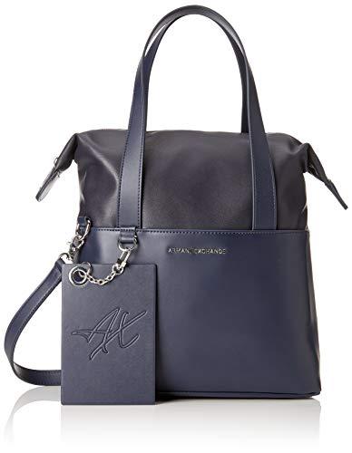 ARMANI EXCHANGE Small Shopping Bag - Borse a spalla Donna, Blu (Blue Angel), 29.0x12.0x44.0 cm (B x H T)