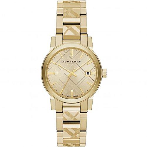 Ladies Burberry el Ciudad grabado Check reloj bu9145
