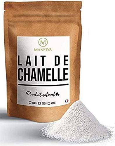 Qumësht pluhur deve, 100 gram qese, paketuar në Francë.