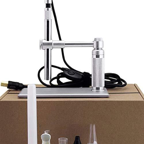 WRJ 500X USB HD Digital Microscopio Electrónico De Microscopio Electrónico De 8LED Endoscopio para Lupa Mantenimiento PCB Herramienta Iluminado - Lectura De La Tercera Edad,Plata