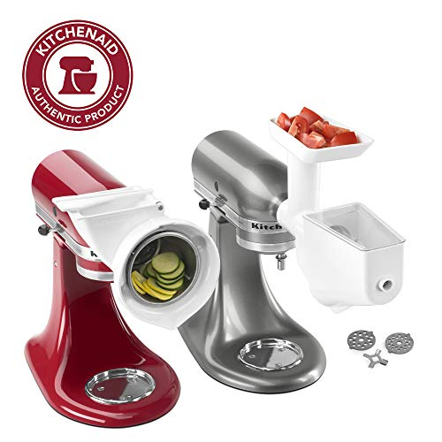 KitchenAid FPPA Stand Mixer Attachment Pack 1 with Food Grinder, Fruit & Vegetable Strainer, and...