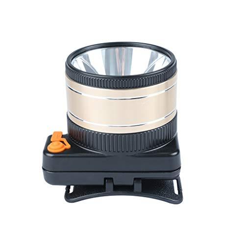 TYHZ Linterna Faros LED de Foco Largo al Aire Libre, Pueden ser de 9000W de Alta Potencia de bajo Consumo de Buceo LED Tres batería de Litio Linterna (Color : Yellow Light, Size : 10CM)
