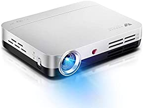WOWOTO 3D Videoproyectores, 3500Lumens 1280x800 Resolución Proyector de vídeo HD, Android 4.4 OS, Proyector LED con Keystone, HDMI, WIFI & Bluetooth (H9 3500 Lumens, Blanco)