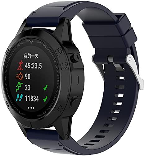 Gransho Correa de Reloj Recambios Correa Relojes Caucho Compatible con Garmin Fenix 6S Pro/Fenix 6S / Fenix 5S/5S Plus (42MM) - Silicona Correa Reloj con Hebilla (Pattern 5)