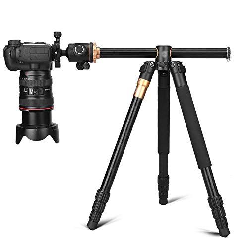 Wuxingqing Professioneel camerastatief, 61 inch, draagbaar, compact, voor reizen, horizontaal, statiefsysteem voor DSLR-camera's op reis en werk