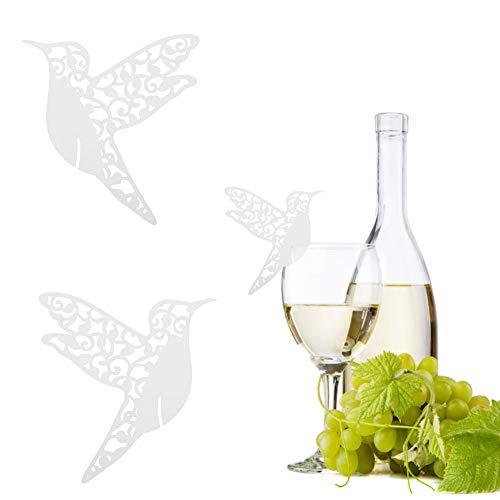 Atyhao Tarjetas de Lugar de Nombre de Boda, 50 Piezas de Forma de pájaro pequeño Tarjetas de Lugar de Nombre Hueco de Boda para decoración de Mesa de Copa de Vino(Blanco)