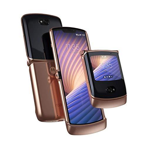 Motorola Razr 5G | Unlocked | Made for US by Motorola | 8/256GB | 48MP Camera | 2020 | Blush Gold