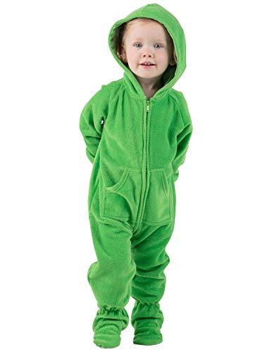 Footed Pajamas - Emerald Green Infant Hoodie Fleece Onesie - Infant - XLarge (Fits 12-18mos.) - Infant - XLarge (Fits 12 - 18mos.)