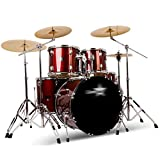 Drum Sets Percussion Drums Adult Children's Beginners 5 Drums 4 Pieces Party Drums Professional Performance Percussion Children's Toys (Color : Red, Size : 150150cm)