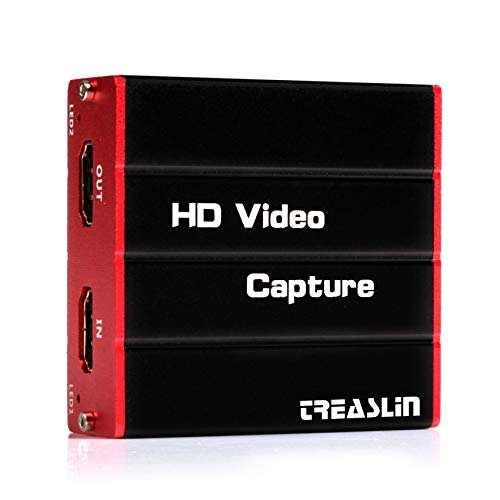 Game USB3.0 HDMI Capture Card, HD 1080P Video Capture Card Live Streaming Share for PS4 Nintendo Switch Wii U DSLR Xbox on OBS, XSplit, Twitch, YouTube Support Windows, Mac, Zero Latency HDMI Loopout