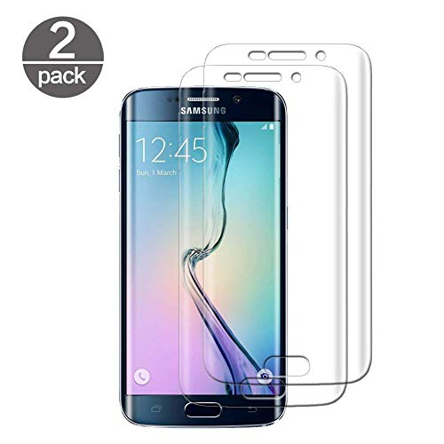 Samsung Galaxy S6 Edge Panzerglas, [2 Stück] Schutzfolie für Samsung Galaxy S6 Edge 9H Härte HD Transparent Displayschutzfolie Gehärtetem Glas Schutzglas Panzerglas Folie, Anti-Kratzen
