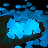 Glow in The Dark Pebbles, Glow Decorative Stones Rocks, Luminous Pebbles for Outdoor Decor, Garden Lawn Yard, Aquarium, Walkway, Fish Tank, Pathway, Driveway(300White)